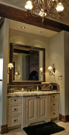 → Bathroom Cabinets And Vanities. Love the look of this bathroom. Discover more check this link. Love the look of this bathroom. Decor, House Design, House, House Bathroom, Home, Rustic Bathroom Vanities, Bathroom Decor, Beautiful Bathrooms, Bathroom Inspiration