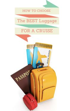 How to Choose the Best Luggage for a Cruise~ http://pinkzebratrendz.blogspot.com