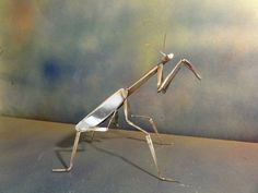 Praying Mantis recycled flatware garden art by GILSGARDEN on Etsy, $35.00