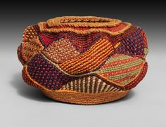 Russell - see a feature on Russell& work in the Fall& issue of F., Lois Russell - see a feature on Russell's work in the issue of F., Lois Russell - see a feature on Russell's work in the issue of F. Contemporary Baskets, Basket Crafts, Creative Textiles, Native American Artists, Weaving Art, Basket Weaving, Woven Baskets, Pin Up Art, Textile Artists