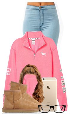 A fashion look from December 2014 featuring Victorias Secret PINK sweatshirts and UGG Australia boots. Browse and shop related looks. Cute Swag Outfits, Cute Outfits For School, Dope Outfits, Girly Outfits, Cute Summer Outfits, Trendy Outfits, Fall Outfits, Teenager Outfits, College Outfits
