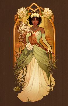 Almost There - Tiana - signed art prints Disney Fan Art, Signed Art Prints, Art Nouveau Disney, The Princess And The Frog, Animation Art, Tiana, Animation, Fairy Tales, Disney Animation