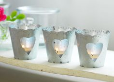 Decorative Country Living ~ Zinc tealight holders on Wanelo