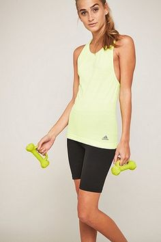 adidas adistar Yellow Running Tank Top