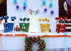 Sesame Street Cake Table birthday parti, street cake, birthdays, rainbows, cake pops, rainbow parti, rainbow birthday, cake tables, chase birthday