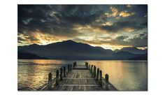 Tablou Sticla Glasspik Jetty II, 80x120 cm Celestial, Mountains, Sunset, Abstract, Travel, Outdoor, Products, Pictures, Corning Glass
