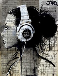 ARTFINDER: HIGH FIDELITY by Loui Jover - ink and gouache on vintage book pages adhered together to create one sheet ready for framing as desired, part of an ongoing series of popular works related t. Illustrations, Illustration Art, Rock Poster, Australian Painters, Newspaper Art, Collage Art, Art Inspo, Painting & Drawing, Saatchi Art