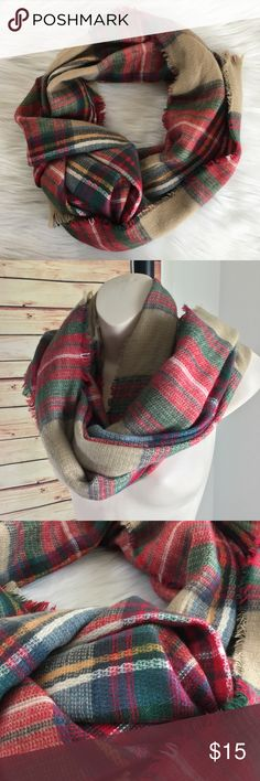Tartan plaid scarf Tartan plaid scarf / preloved, excellent condition / frayed edges / can be worn or tied in multiple ways Accessories Scarves & Wraps