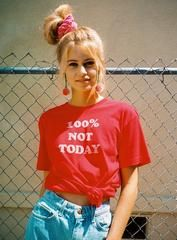 70s Vintage Tees for women | 100% Not Today Tee | Top Knot Goods | TOP KNOT GOODS