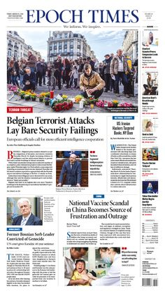 Belgian Terrorist Attacks Lay Bare Security Failings|Epoch Times #newspaper #editorialdesign                                                                                                                                                      More