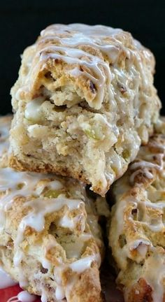 Apple Pecan Scones are a perfect fall dessert, loaded with apple pieces and chopped pecans, then drizzled with glaze. Apple Pecan Scones are a perfect fall dessert, loaded with apple pieces and chopped pecans, then drizzled with glaze. Desserts Keto, Fall Dessert Recipes, Pudding Desserts, Apple Desserts, Fall Desserts, Apple Recipes, Brunch Recipes, Fall Recipes, Baking Recipes