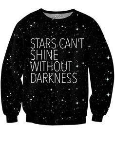 Check out our all-over-print Stars Crewneck Sweatshirt. This sexy sweater from our Classics brand features the true message that stars can't shine without darkness. Get this vibrant fully sublimated j