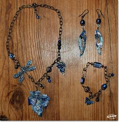 Some jeans-blue jewelry by Marleen van Meerendonk
