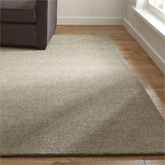 Quinn Taupe Wool Rug | Crate And Barrel