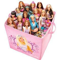 Barbie storage--but they're all staring at me!!!    Google Image Result for http://ecx.images-amazon.com/images/I/51S0kwLP4NL._SL500_AA300_.jpg