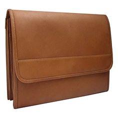 Piel Personalized Leather Envelope Portfolio | Black Friday Catalog