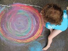 The Chocolate Muffin Tree: Wet Chalk Fun: Making Hand and Foot Prints