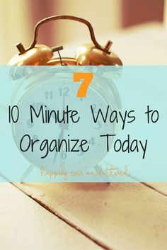 Got 10 minutes? You have time to organize something. Whether it be an area in…