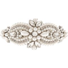Accessorize Embellished Occasion Barrette ($29) ❤ liked on Polyvore featuring accessories, hair accessories, jewelry, vintage hair clips, beaded hair accessories, pearl hair clip, beaded hair clips and hair clip accessories