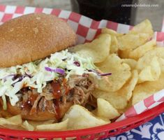 Pulled Pork with Apple Cider Sauce         {slow cooker recipe}