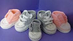 crochet baby sneakers pattern - YouTube