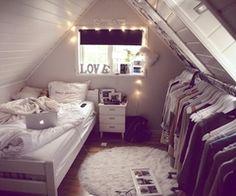 Of een fashionzolder (klein bed!)