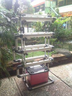 Kit Hidroponik NFT/DFT Pipa PVC 40 Lubang Fullset - 3