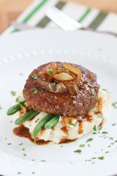 Hamburger Steak with Onion Gravy