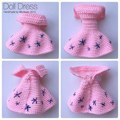 Mesmerizing Crochet an Amigurumi Rabbit Ideas. Lovely Crochet an Amigurumi Rabbit Ideas. Crochet Doll Dress, Crochet Doll Clothes, Crochet Doll Pattern, Easy Crochet Patterns, Doll Clothes Patterns, Doll Patterns, Crochet Baby, Knit Crochet, Crochet Bikini