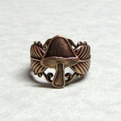 Woodland Forest Wild Mushroom Ring by ranaway on Etsy from ranaway on Etsy. Saved to My Wishlist. Funky Jewelry, Cute Jewelry, Jewelry Rings, Jewelry Accessories, Jewlery, Wild Mushrooms, Stuffed Mushrooms, Goblin, Woodland Forest