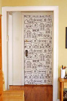 27 projetos que você mesmo pode fazer para dar uma animada em sua casa Bedroom Door Decorations, Dorm Decorations, Diy Hacks, Lofted Dorm Beds, Decorating Tips, Interior Decorating, Beds For Small Spaces, Large Wall Stencil, Fabric Display