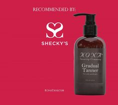 Kona Tanning Gradual Tanner Recommended by Shecky's! #tan #bronze #skin #beauty
