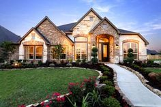 brick homes one story - Google Search