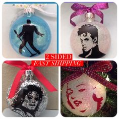 A personal favorite from my Etsy shop https://www.etsy.com/listing/467169010/elvis-prince-ornament-michael- #wine #beer #coffee #margarita #starbucks #christmas #makeup #wedding #lipstick #hair #hairstyles #fashion #glutenfree #halloween #fall #elvis #MichaelJackson #MarilynMonroe #batman #prince