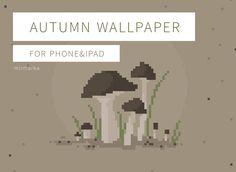 Pixel art wallpaper for phone and ipad. Phone Background Wallpaper, Pixel Phone, Phone Wallpapers, Pixel Art, Etsy Store, Ipad, Autumn, Fall Season, Wallpaper For Phone