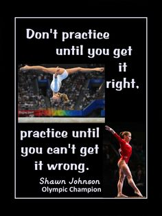 "Gymnastics Poster Shawn Johnson Olympic Gymnast Photo Quote Wall Art #2 Print 8x10""- 11x14"" Practice Til You Can't Get It Wrong - Free Ship by ArleyArt on Etsy https://www.etsy.com/listing/212045493/gymnastics-poster-shawn-johnson-olympic"