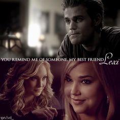 The Vampire Diaries. Stefan. Caroline. Lexi. Best Friends.