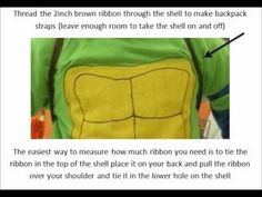 How to make a Ninja Turtle costume Halloween 2013, Holidays Halloween, Halloween Decorations, Halloween Costumes, Holiday Fun, Holiday Ideas, Turtle Costumes, Trunk Or Treat, Ninja Turtles