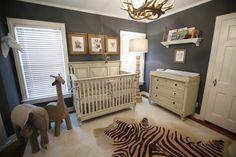 Minus the dead animal carcass rug. Teach your kids to love and respect animals early #nursery #babynursery