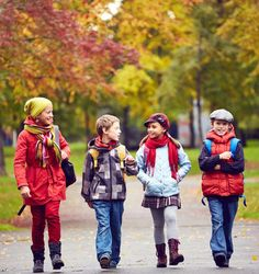Studies show that kids who walk to school are able to concentrate better than their peers who take the bus or a car.