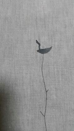 솟대 ㅡ my work / needlework(grey cotton sheets )