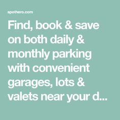 Find, book & save on both daily & monthly parking with convenient garages, lots & valets near your destination. Fedex Field, National Mall, Garages, Washington Dc, Books, Places, Libros, Garage, Book