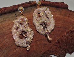 Salt Crystal Pink Dangle Earrings