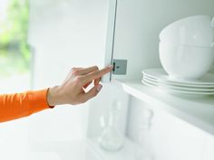 Eclipse brings you Blum's Servo-Drive for Aventos – the perfect solution for functional, easy-to-use wall cabinets. Create a smarter kitchen with this simple electrical support system. Cabinet Fronts, Design, Master Suite, Finals, Kitchens, Button, Simple, Health, Cuisine