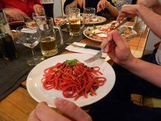 Spaghetti w. caramelized onion and pine nuts @Mami Camilla