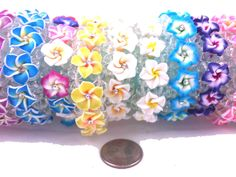 Plumeria Flower Fimo Clay Cute Elastic Bracelet/Anklet Hawaiian Jewelry Hawaii #none #bracelets