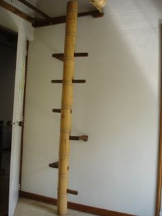 escalera minimalista y rstica en bamb guadua y sapn