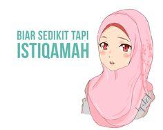 Istiqamah, islamic quotes, kata hikmah, renungan bersama, muslimah anime