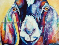 Original Nubian Goat Oil Painting 11x14