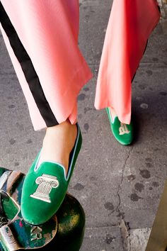 Green velvet smoking slippers are 100% necessary.